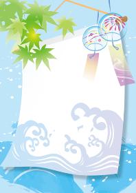 風になびく夏のポスター