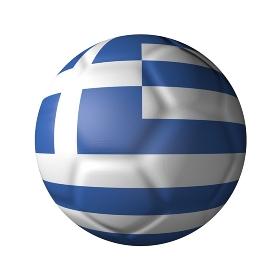 ギリシャのサッカーボール型国旗