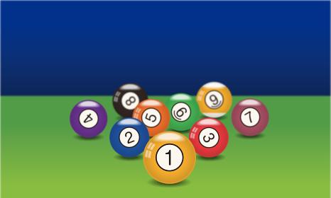 ビリヤードの玉のイラスト|ナインボール|Billiards ball