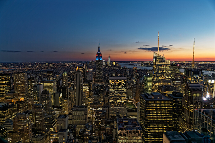 ニューヨーク摩天楼 マンハッタン夜景 アメリカ合衆国