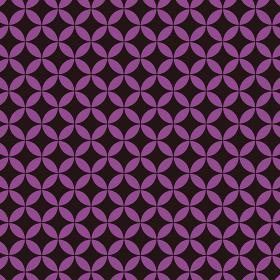 花七宝模様 黒×紫 3