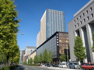 東京都 日比谷通りと帝国劇場