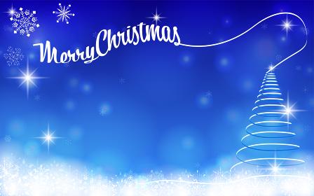 リボンのクリスマスツリーのクリスマスカード
