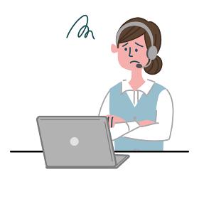 女性 オペレーター パソコン 困っている