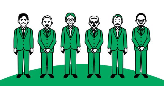 ビジネスチーム 年配男性 6人