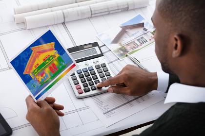 Architect Calculating Heat Temperature