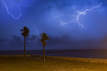 Storm Clouds and Lightning Storm Roll Through St. Petersburg, FL, St. Petersburg, FL, United States