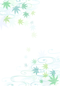 青もみじの夏のフレーム