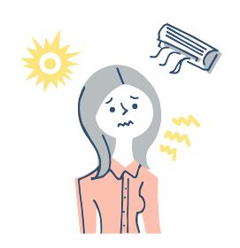 紫外線やエアコンによる肌への刺激 女性