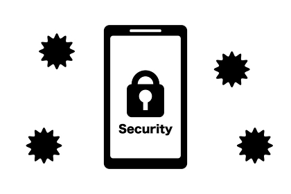 スマートフォンのセキュリティ 鍵マーク