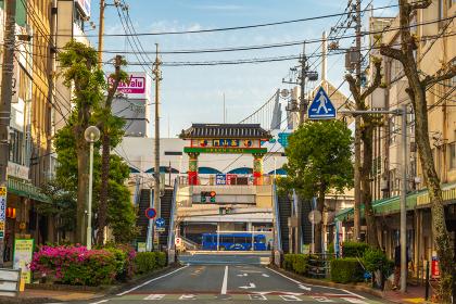 下関中心街の街並み(山口県)