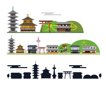 京都 建物 背景 風景
