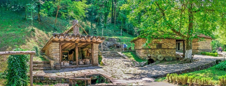 Old traditional house in the Etar village, Bulgaria