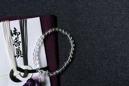 数珠と香典と袱紗 6 女性用