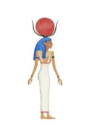 エジプト 神 ハトホル 水彩 イラスト