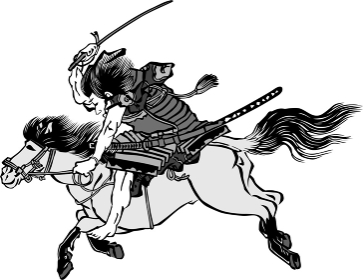 浮世絵 馬に乗っている人 その3
