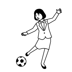 スポーツ 女性 サッカー