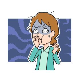 体調不良で吐き気がする女性