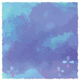 手描きイラスト 梅雨と紫陽花のフレーム
