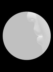 丸枠の中にある人の鼻と口