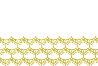 金色のレースのシルエットのフレームイラスト
