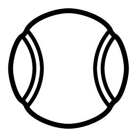 テニスボール(モノクロ)
