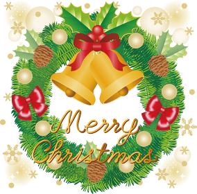 クリスマス クリスマスリースの飾り