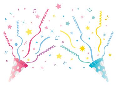 ピンクとブルーのパーティークラッカー