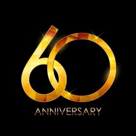 Template 60 Years Anniversary Congratulations Vector Illustration EPS10. Template 60 Years Anniversary Congratulations Vector Illustratio