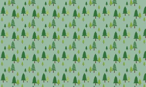 北欧パターン「緑色の木柄」