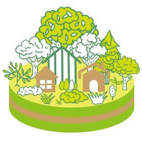 エコ 街のイラスト