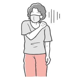 マスク 肩こり 中年女性