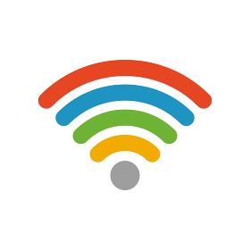 ワイファイ Wi-Fi アイコン (レインボー)