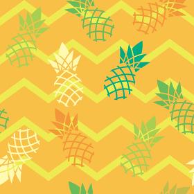 シームレスのパイナップル幾何学模様イラストの連続柄|夏のイメージ|ファブリック・テキスタイル