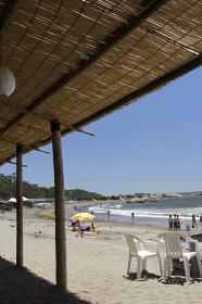 葉山一色海岸の海水浴場