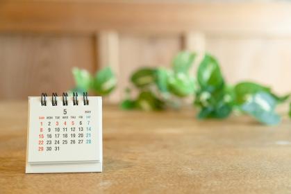 2022年5月の卓上カレンダー