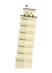 イタリア / ピサの斜塔 | 世界の有名な建築物(遺跡・建物・世界遺産・ランドマーク)