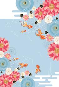 金魚:金魚 金魚すくい 泳ぐ お祭り おしゃれ 和 淡水魚 和風 アクアリウム