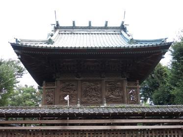 下総野田愛宕神社の本殿背面に施された彫刻