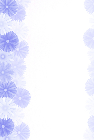 和風ハガキデザイン 和風菊の花 紫