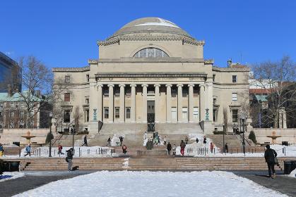 コロンビア大学 雪景色 ニューヨーク マンハッタン アメリカ合衆国