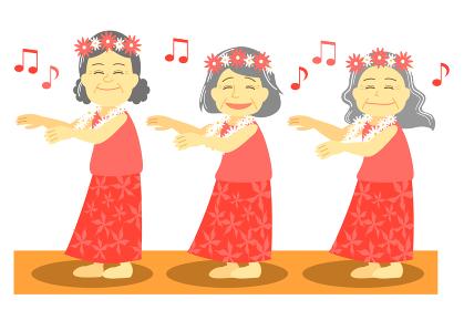 フラダンスをするおばあちゃん 舞台ver