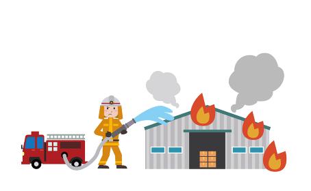 倉庫 火災 消火