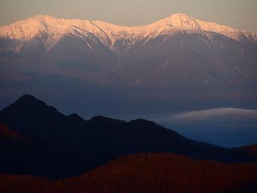 三つ峠からの南アルプスの北岳