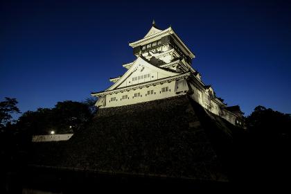 小倉城天守閣の夜景 福岡県北九州市