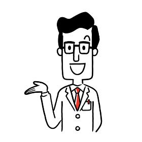 ベクター素材:笑顔の男性医師
