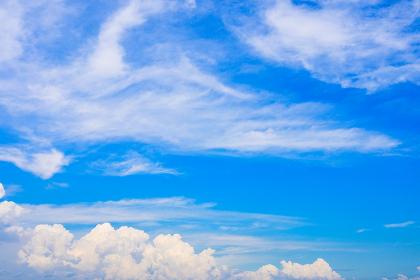 爽やかな夏の青空と白い雲