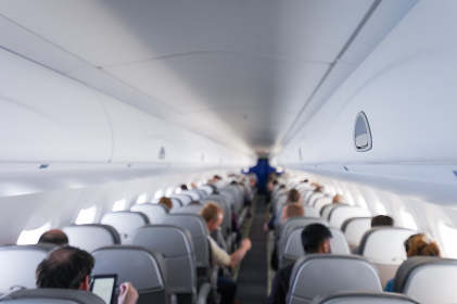 飛行機のキャビン