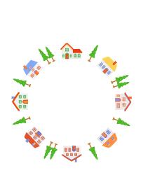 家並みの輪