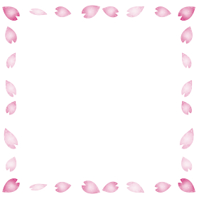 春 桜 さくら 花びら 花吹雪 フレーム 水彩 背景 コピースペース イラスト素材